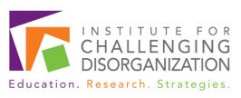 Institute for Challenging Disorganization logo