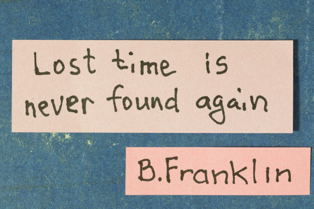 Time Quote by Benjamin Franklin